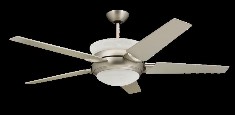 Satin Steel Uplight Ceiling Fan