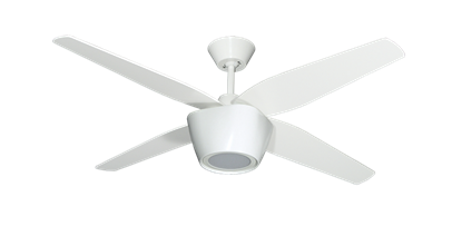 Pure White Ceiling Fan With LED Light