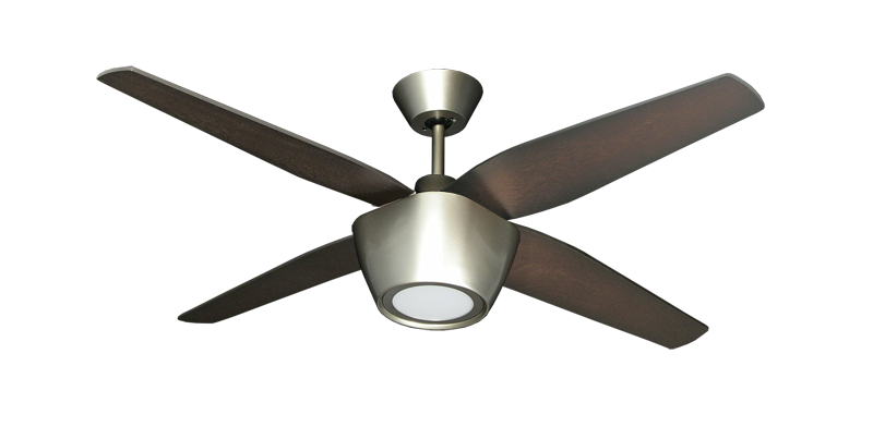 Fresco 52 in. Brushed Nickel Ceiling Fan with LED Light