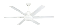 Picture of DC-6 52 in. Indoor/Outdoor Pure White Ceiling Fan and Light