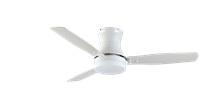"""Modernaire 52"""" Pure White Ceiling Fan and Light"""