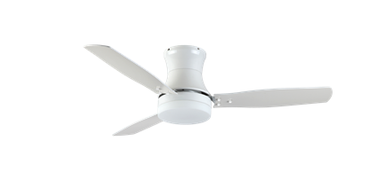 "Modernaire 52"" Pure White Ceiling Fan and Light"