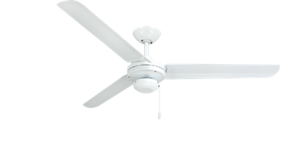 Tornado 56 in. Indoor/Outdoor Pure White Ceiling Fan
