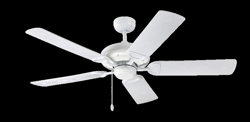 ProSeries Deluxe Builder 52 in. Indoor/Outdoor Pure White Ceiling Fan