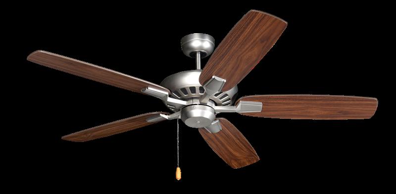 Saturn 52 in. Satin Steel Ceiling Fan