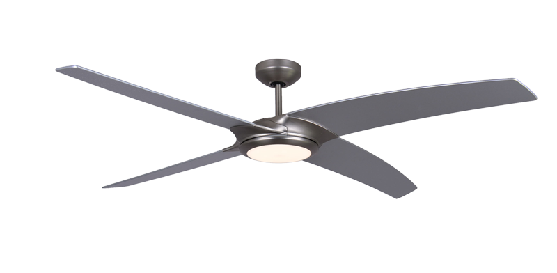 Starfire 56 in brushed aluminum ceiling fan with led light dans brushed aluminum ceiling fan with led light aloadofball Choice Image