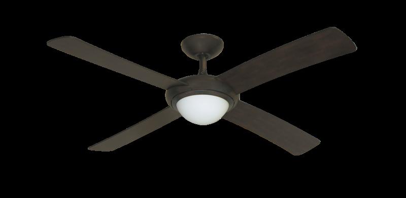 52 Luna Indoor Outdoor Ceiling Fan And Light In Oil Rubbed Bronze