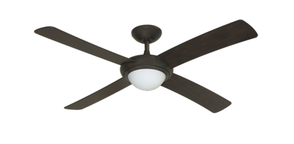"52"" Luna Indoor Outdoor Ceiling Fan and Light in Oil Rubbed Bronze with Remote Control"