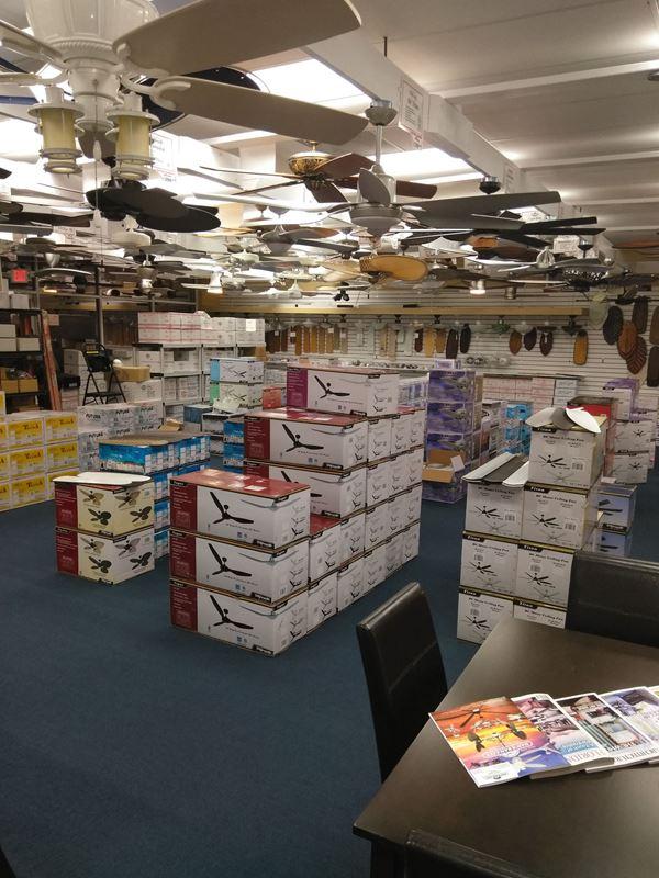 Ceiling Fan Store Interior Ft. Lauderdale, FL