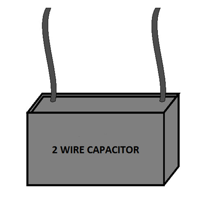 Picture of Single Capacitor - Two Wire
