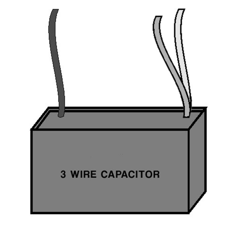 Single Capacitor - Three Wire
