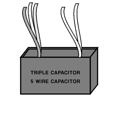 Triple Capacitor - Five Wire