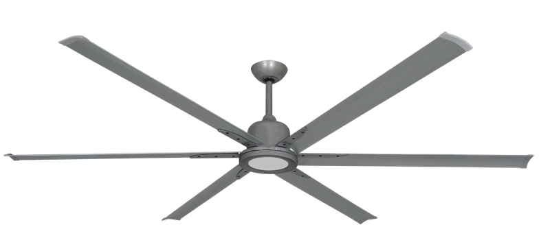 "Picture of Titan II Brushed Nickel with 84"" Aluminum Brushed Nickel Blades with 18W LED Array Light and Remote"