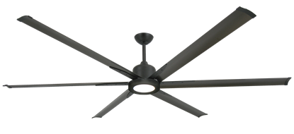"Titan II Oil Rubbed Bronze with 84"" Aluminum Oil Rubbed Bronze Blades with 18W LED Array Light and Remote"