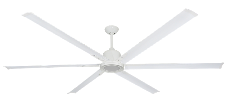 "Picture of Titan II Pure White with 84"" Aluminum Pure White Blades with 18W LED Array Light and Remote"