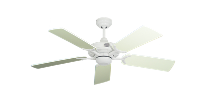 "Picture of Coastal Air Pure White with 44"" Antique White Blades"