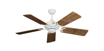 "Picture of Coastal Air Pure White with 44"" Walnut Gloss Blades"