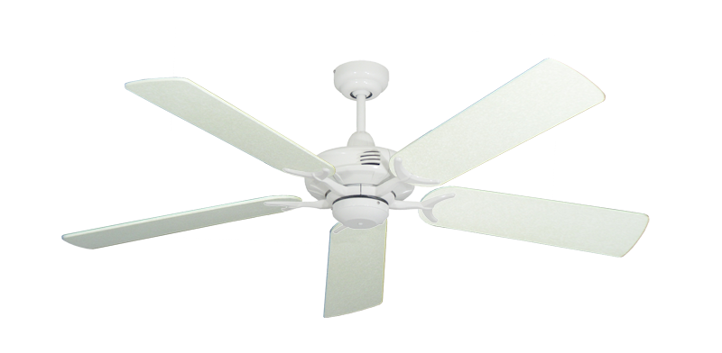 "Picture of Coastal Air Pure White with 52"" Navajo White Blades"