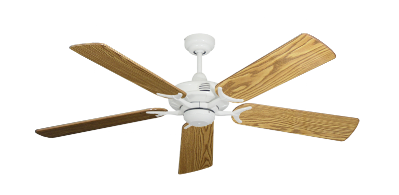 "Picture of Coastal Air Pure White with 52"" Oak Gloss Blades"