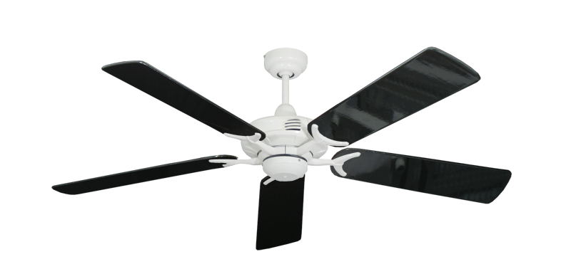 """Picture of Coastal Air Pure White with 52"""" Black Gloss Blades"""