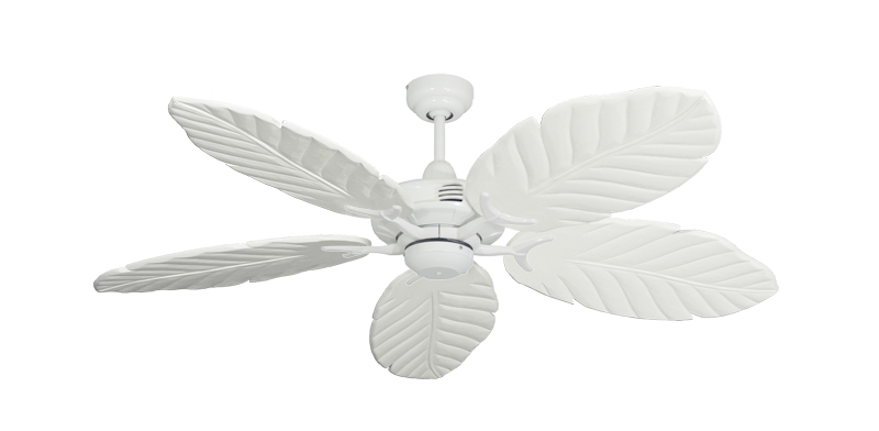 "Picture of Coastal Air Pure White with 52"" Series 125 Arbor Pure White Blades"