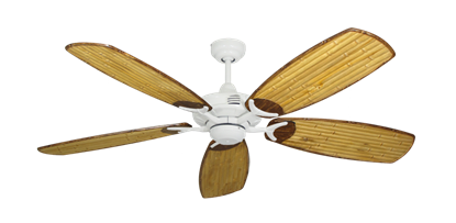 """Picture of Coastal Air Pure White with 52"""" Series 275 Arbor Bamboo Blades"""