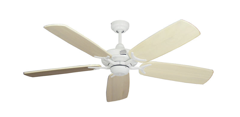 "Coastal Air Pure White with 52"" Series 425 Arbor Whitewash Blades"