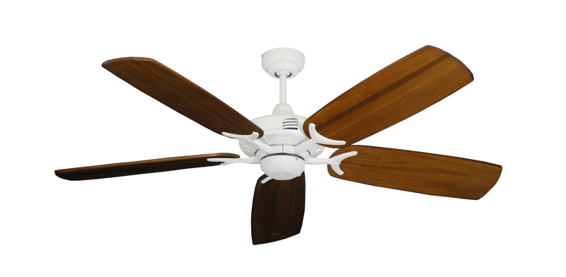 "Picture of Coastal Air Pure White with 52"" Series 425 Arbor Oak Blades"