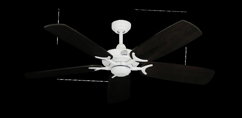 "Picture of Coastal Air Pure White with 52"" Series 425 Arbor Dark Walnut Blades"