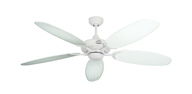 "Picture of Coastal Air Pure White with 52"" Outdoor Wicker Pure White Blades"