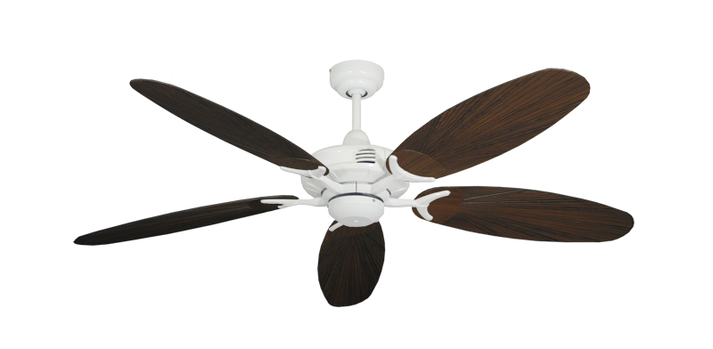 "Picture of Coastal Air Pure White with 52"" Outdoor Leaf Oil Rubbed Bronze Blades"