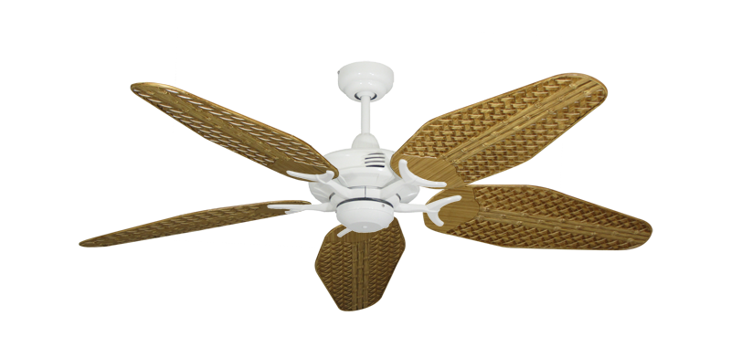"Picture of Coastal Air Pure White with 52"" Outdoor Weave Walnut Blades"