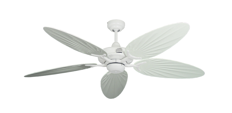 """Picture of Coastal Air Pure White with 52"""" Outdoor Palm Pure White Blades"""