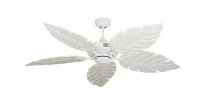 """Picture of Coastal Air Pure White with 52"""" Venetian Pure White Blades"""