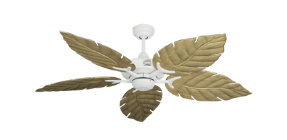 """Picture of Coastal Air Pure White with 52"""" Venetian Walnut Blades"""
