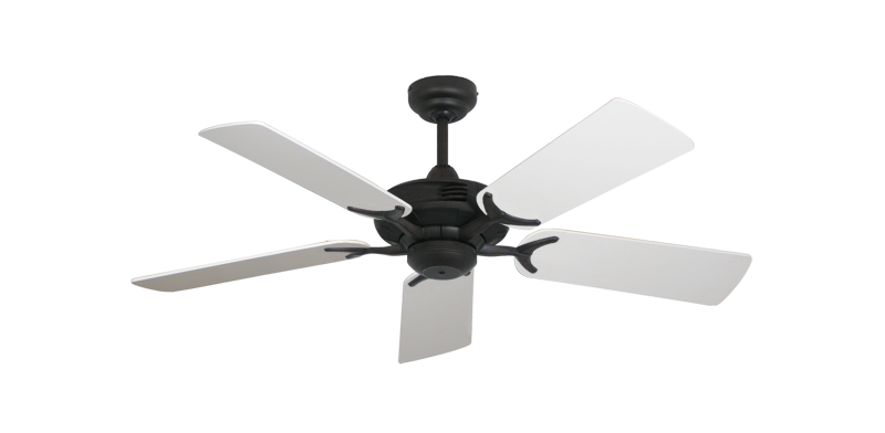 "Coastal Air Oil Rubbed Bronze with 44"" Pure White Blades"