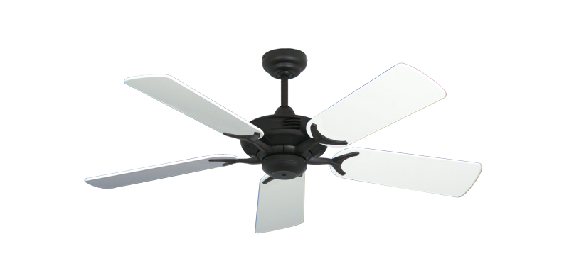 "Picture of Coastal Air Oil Rubbed Bronze with 44"" Pure White Gloss Blades"
