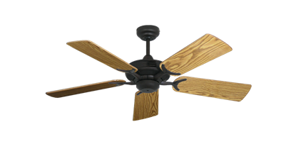 "Picture of Coastal Air Oil Rubbed Bronze with 44"" Oak Gloss Blades"