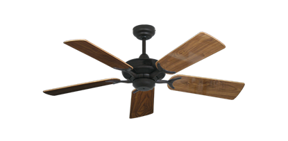 "Picture of Coastal Air Oil Rubbed Bronze with 44"" Walnut Gloss Blades"