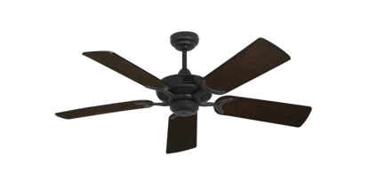 """Coastal Air Oil Rubbed Bronze with 44"""" Distressed Walnut Blades"""