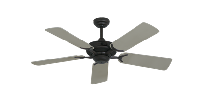 """Coastal Air Oil Rubbed Bronze with 44"""" Satin Steel (painted) Blades"""