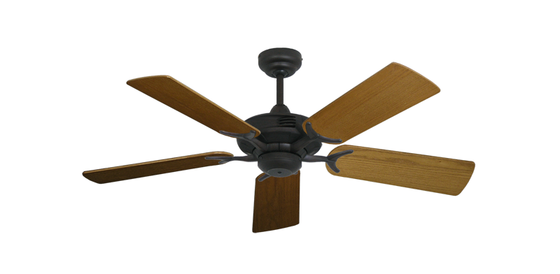 "Picture of Coastal Air Oil Rubbed Bronze with 44"" Light Oak Blades"