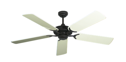 """Coastal Air Oil Rubbed Bronze with 52"""" Antique White Gloss Blades"""