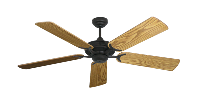 "Coastal Air Oil Rubbed Bronze with 52"" Oak Gloss Blades"