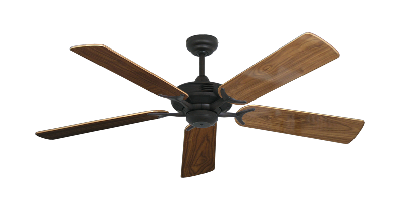 """Picture of Coastal Air Oil Rubbed Bronze with 52"""" Walnut Gloss Blades"""