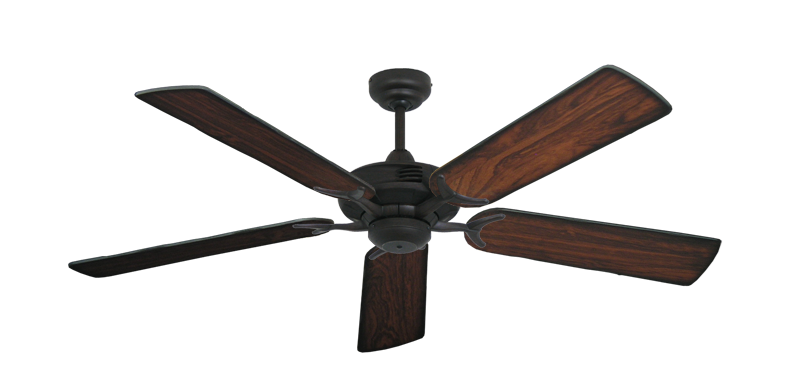 "Picture of Coastal Air Oil Rubbed Bronze with 52"" Burnt Cherry Blades"