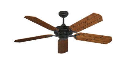 "Picture of Coastal Air Oil Rubbed Bronze with 52"" Cherry Plank Blades"