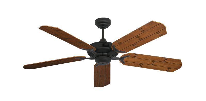 """Picture of Coastal Air Oil Rubbed Bronze with 52"""" Cherry Plank Blades"""