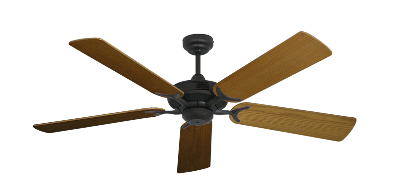 "Picture of Coastal Air Oil Rubbed Bronze with 52"" Light Oak Blades"