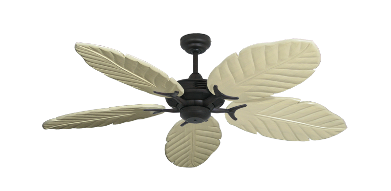 "Coastal Air Oil Rubbed Bronze with 52"" Series 125 Arbor Whitewash Blades"